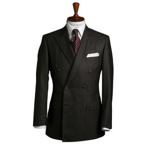 Chocolate Brown Pinstripe Wool suit